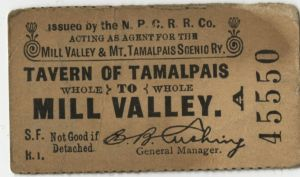 Mt. Tamalpais Railway Ticket