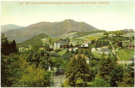 PostcardMillValleyCAwithMountTamalpaisCirca1910