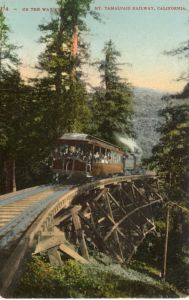 1914 Postcard • Mt. Tamalpais & Muir Woods Railway Ascending Mount Tamalpais