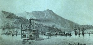 View of Sausalito Landing and Mt. Tamalpais • 1884 Illustration