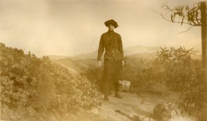 Hiker on Mt. Tamapais • 1913