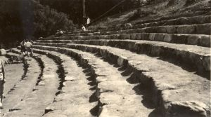The nearly completed terraced Mountain Theater • 1936