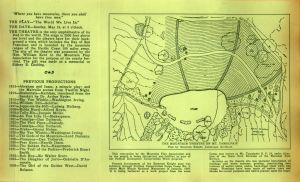 Diagram for the terraced Mountain Theater with Mountain Play History • 1935