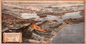 1917 Map Depicting the Mt. Tamalpais & Muir Woods Railway Routes and the Northwest & Pacific Coast Railroad Routes